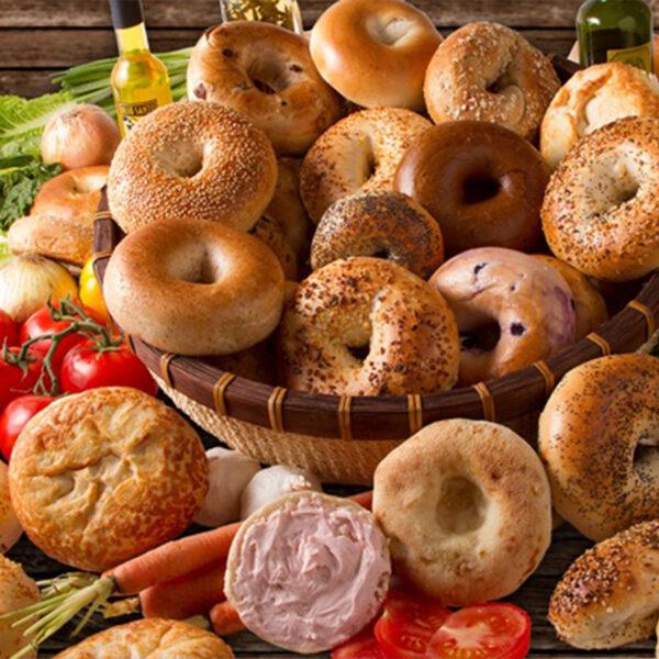 bagels in basket