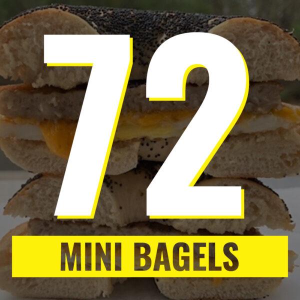 72 mini bagels